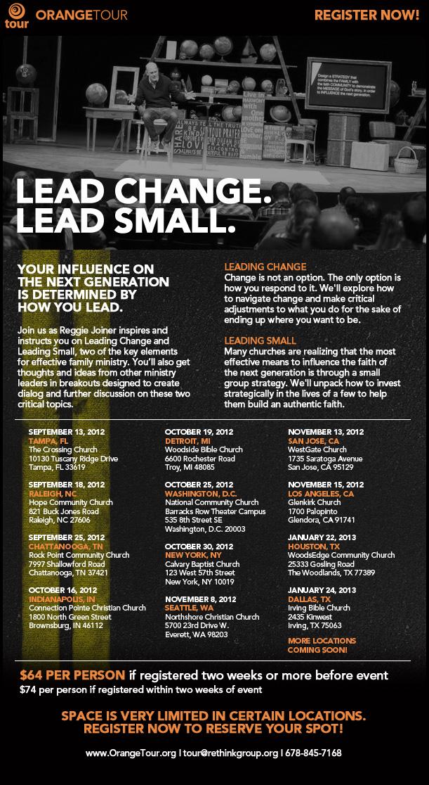 Orange Tour 2012-2013 Registration is Open!