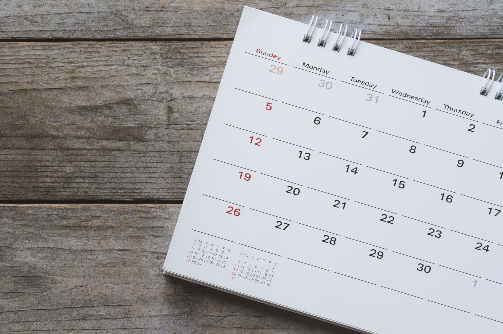 Spring Cleaning Your Calendar