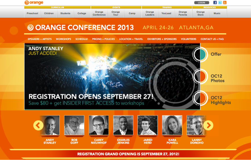 The Orange Conference 2013: New Site Launched!
