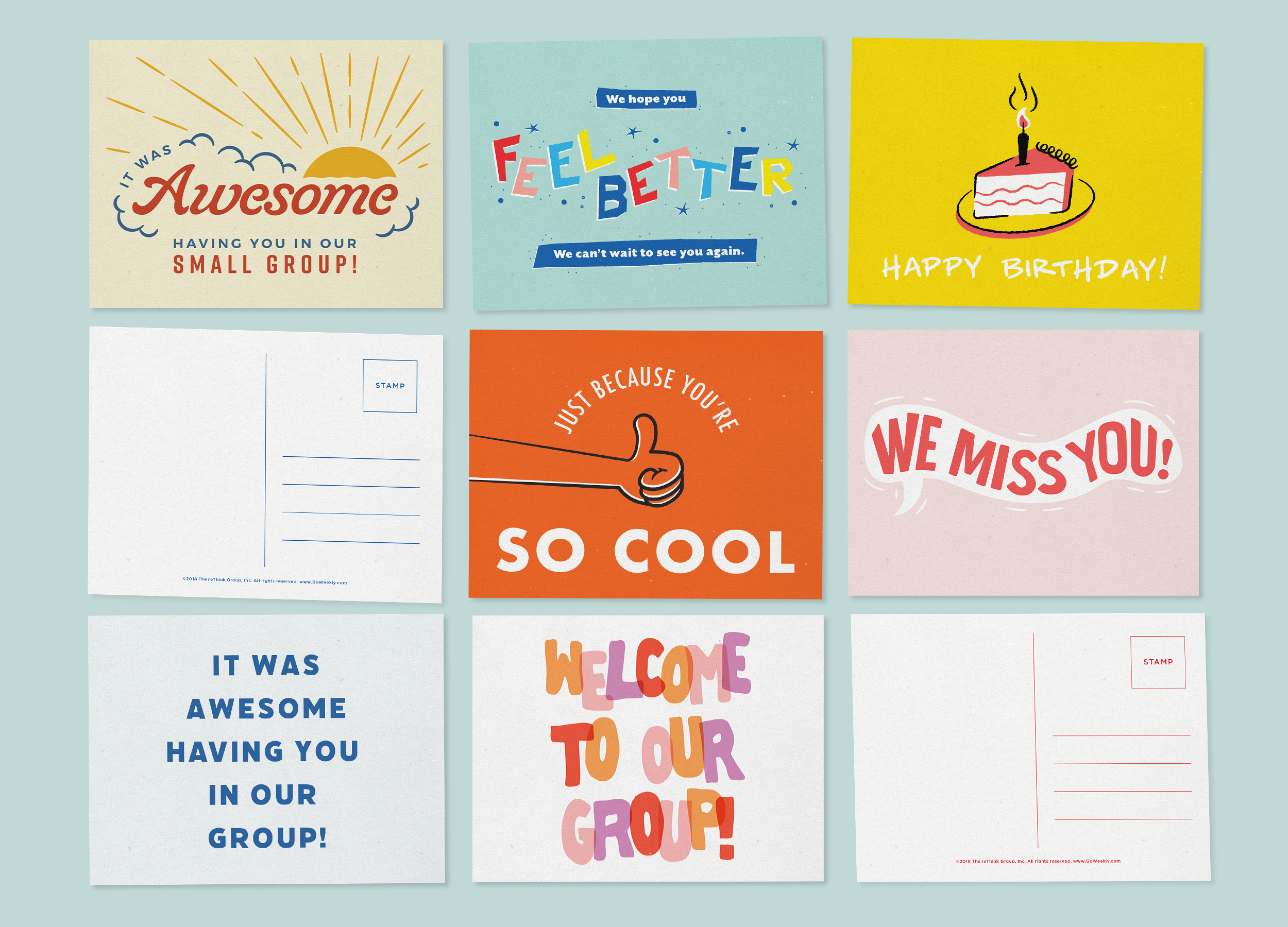 Small Group Leader to Kid Postcards
