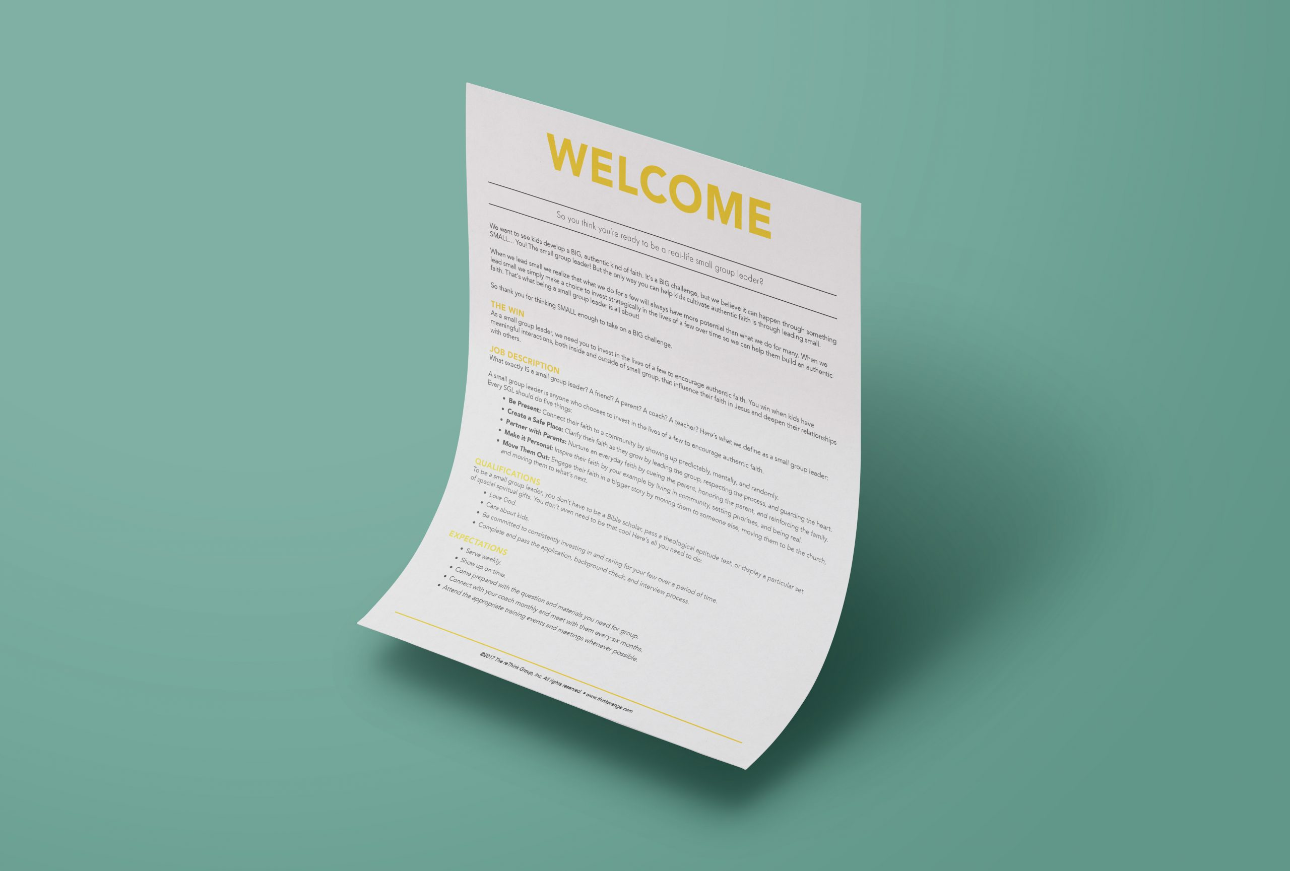 Small Group Leader Onboarding Kit
