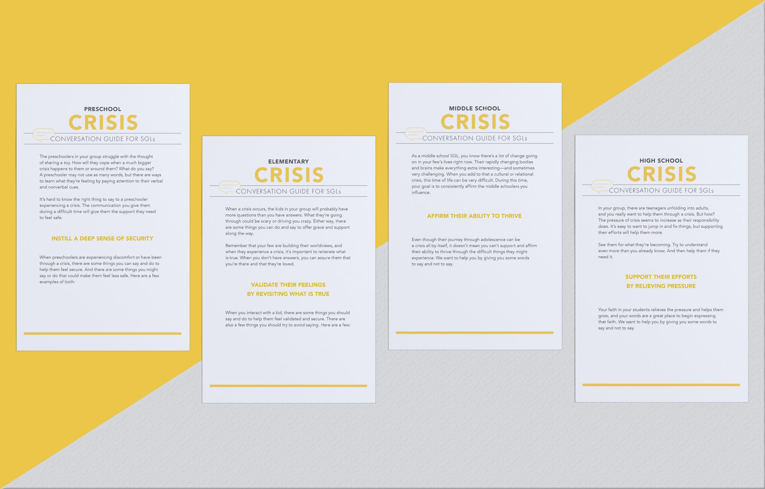 Small Group Leader Conversation Guides: Crisis