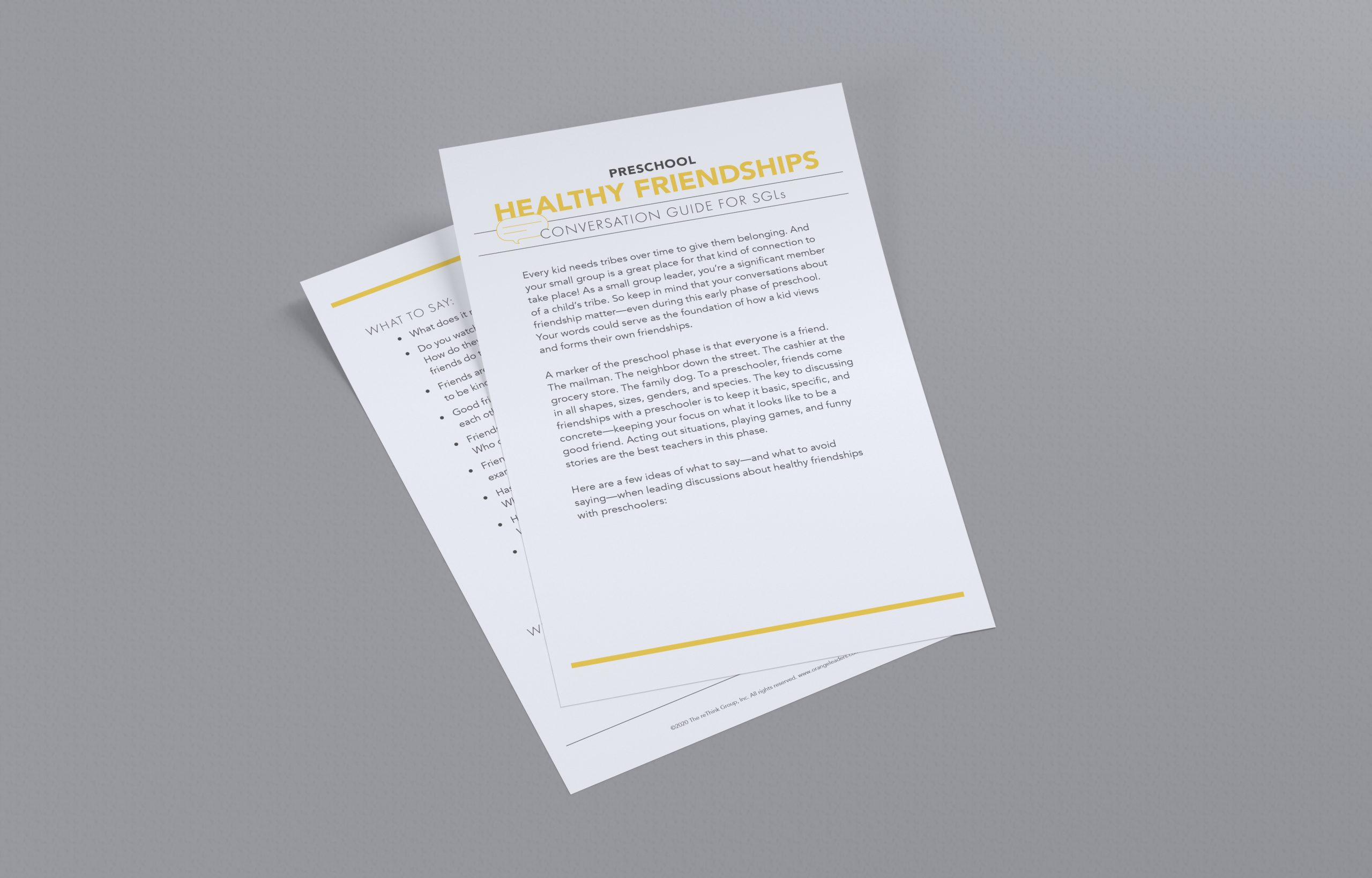 Small Group Leader Conversation Guide: Healthy Friendships