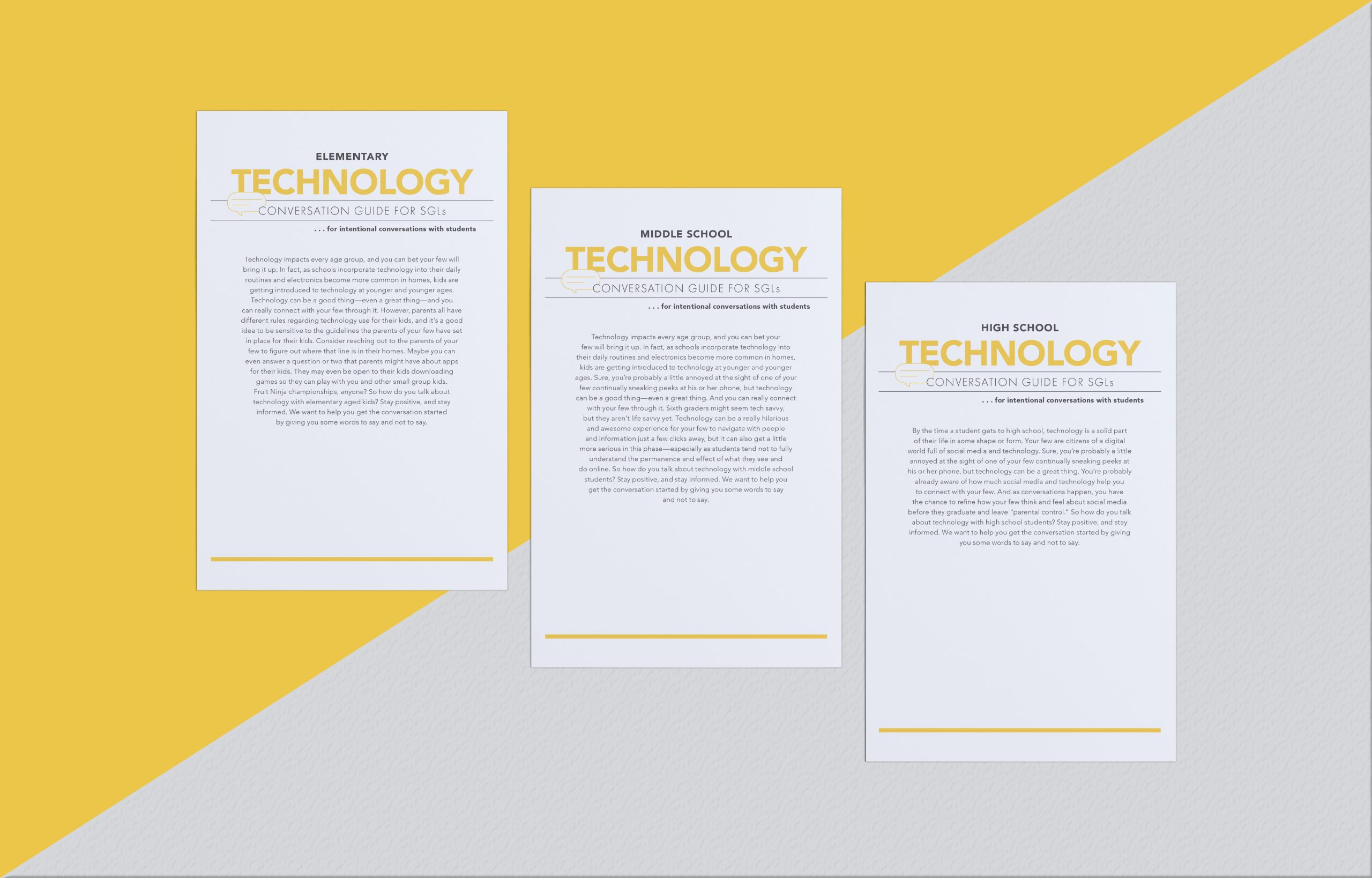 Small Group Leader Conversation Guide: Technology