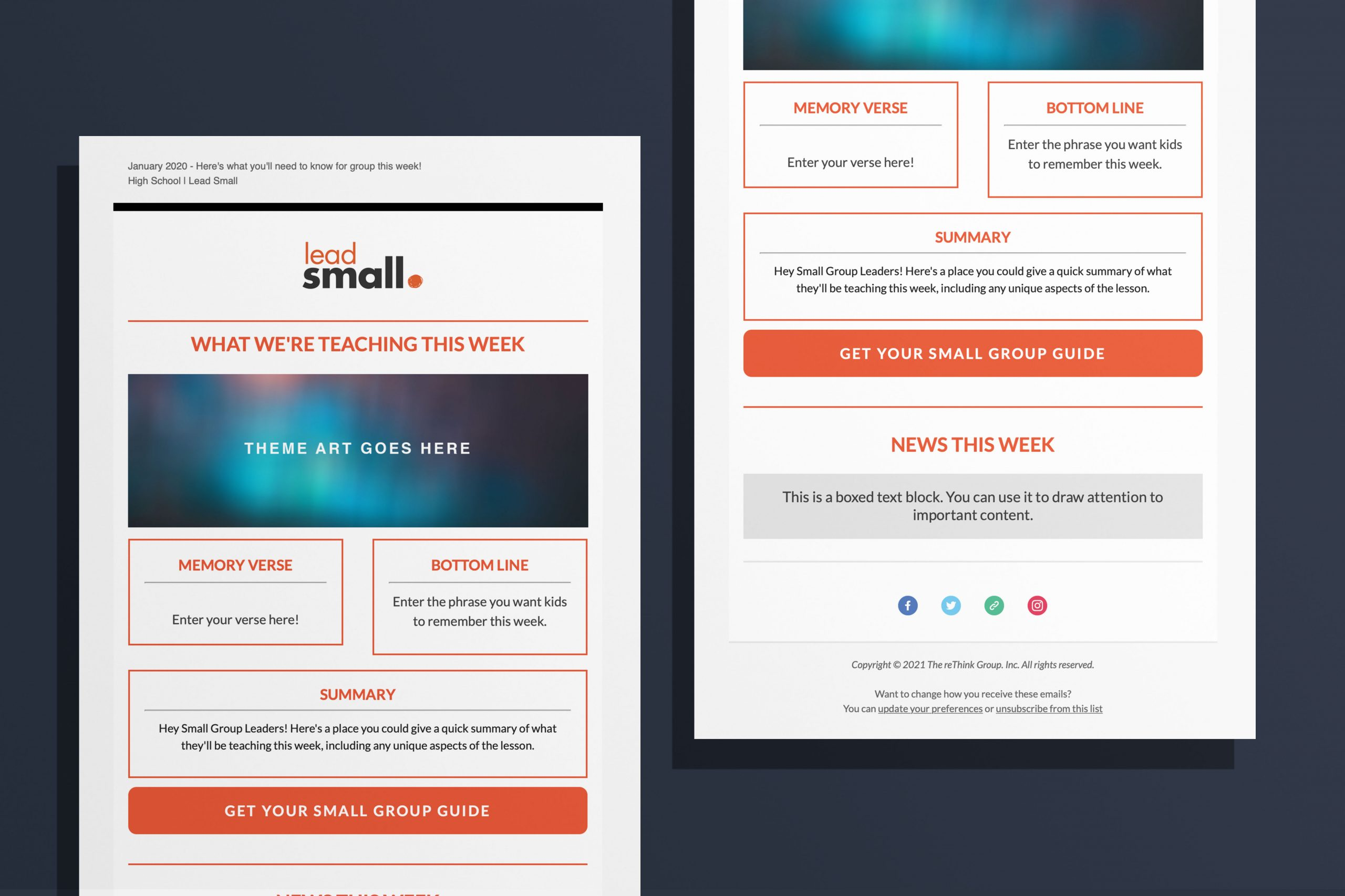 Volunteer Email Template