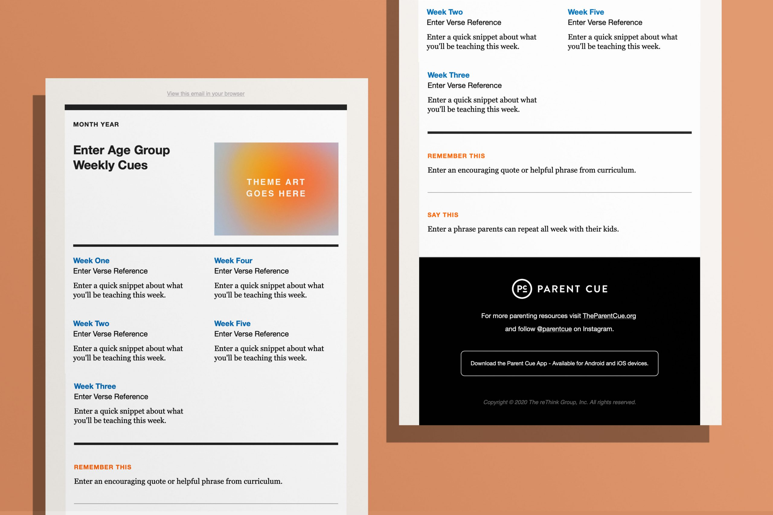 Parent Email Template